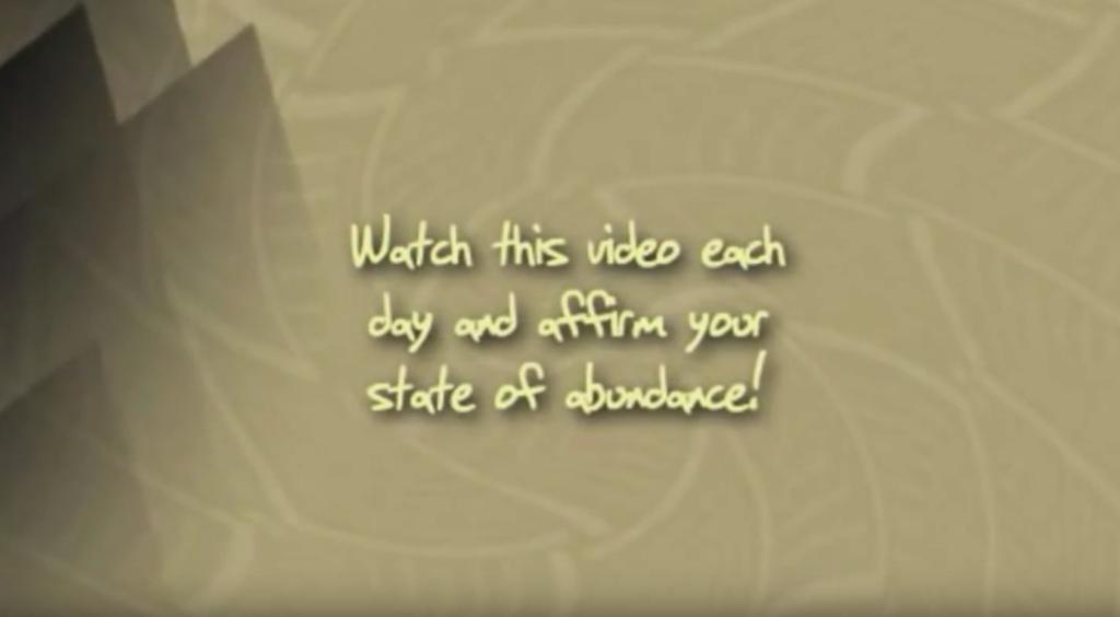 Positive Abundance Meditation Video